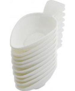 Medicijnlepel wit kunststof per 250st