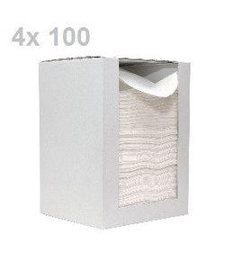 Soft Compact papieren doekjes - 4 dispensers a 100 doekjes