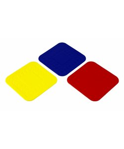 Anti-slip onderzetters - geel 4 stuks