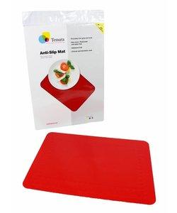 Anti-slip matten rechthoekig - L 35,5 x B 25,5 cm rood