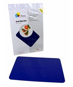 Anti-slip matten rechthoekig - L 45 x B 38 cm blauw