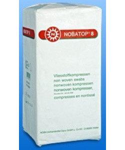 Nobatop-8 non woven gaaskompres 5x5 onsteriel 4 laags p. doosje  a 200