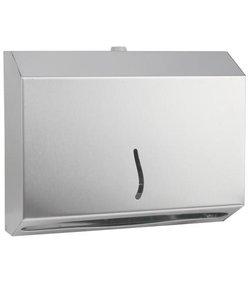 RVS dispenser voor 200 x Z vouw papieren handdoekjes