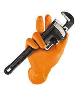 500x 246OR oranje nitril extra dikke semi disposable handschoen