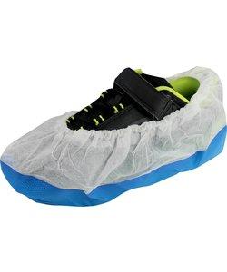 50 extra sterke schoenbeschermers blauw  wit