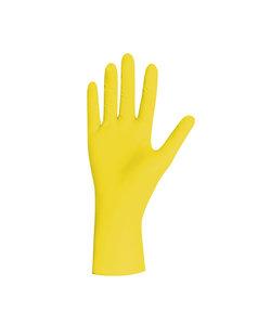 Gele nitril Pearl Yellow handschoenen