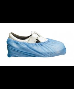 1000x Ansell blauw  PE schoenovertrek 15x41cm