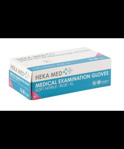 10x 100 soft nitril blauwe handschoenen XL