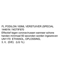 25x Podilon 100ml handdesinfectie verstuiver