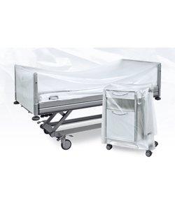 Afdekhoezen ziekenhuisbedden en nachtkastjes