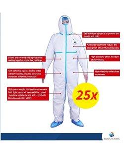 Medisch beschermende Coverall Type 3 Large
