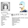 Kolmi FFP2  medische maskers chirurgisch EN14683
