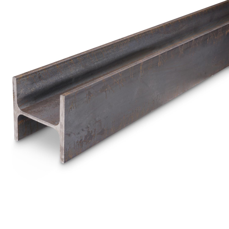 HEA 100 - stalen balk WGW zwart onbewerkt balkstaal