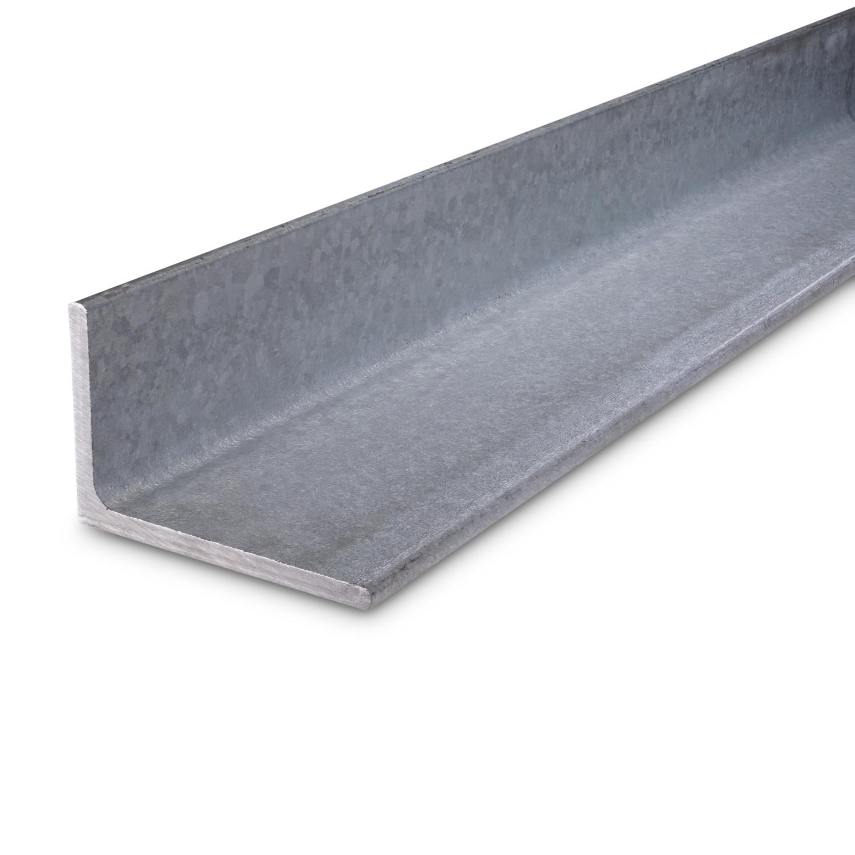 L profiel - hoek ongelijkzijdig WGW gegalvaniseerd - verzinkt staal - 160x80x10 MM