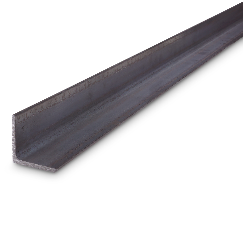 Hoekprofiel gelijkzijdig WGW zwart onbewerkt staal - 25x25x3 MM
