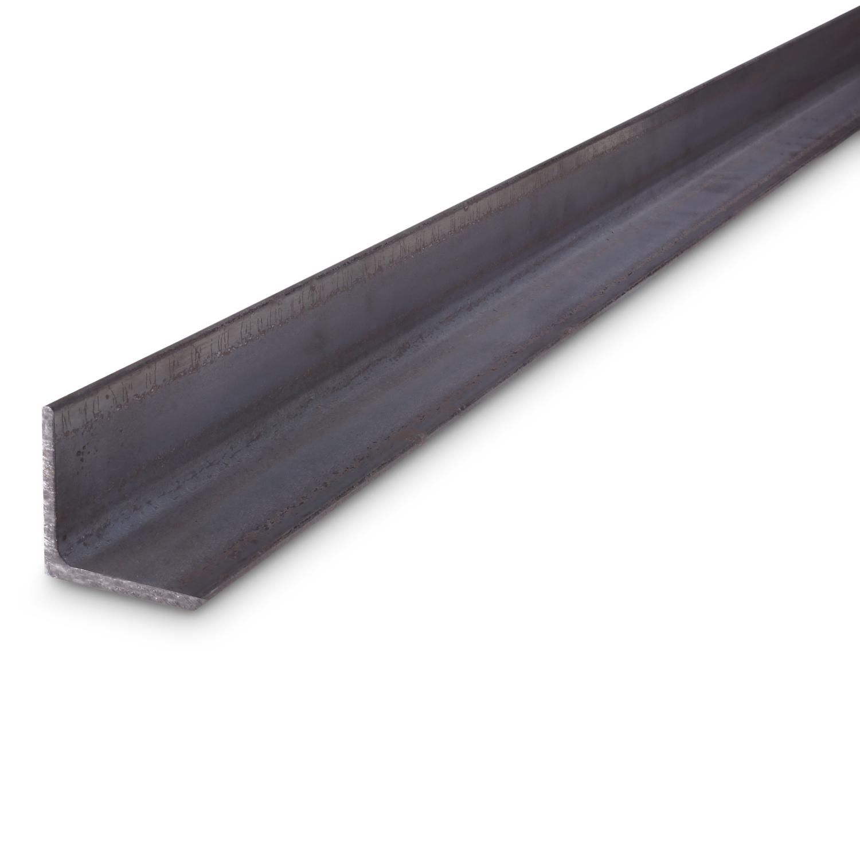 Hoekprofiel gelijkzijdig WGW zwart onbewerkt staal - 80x80x8 MM