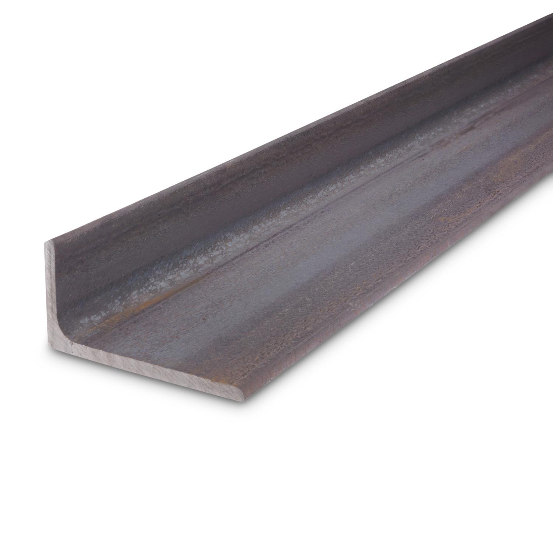 L profiel - hoek ongelijkzijdig WGW zwart onbewerkt staal - 80X40X6 MM