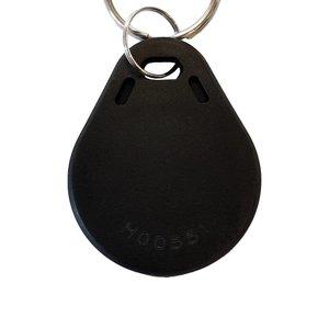 Laser-volgnummer NFC-Sleutelhanger NTAG213 Zwart met Logo