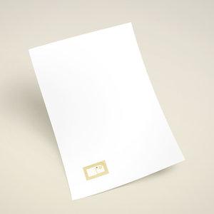 NFC A4-papier 80-grams, met op geprinte NFC-tag