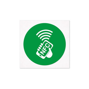 30 mm NFC-Sticker-Tag NTAG213  30mm. Groen.
