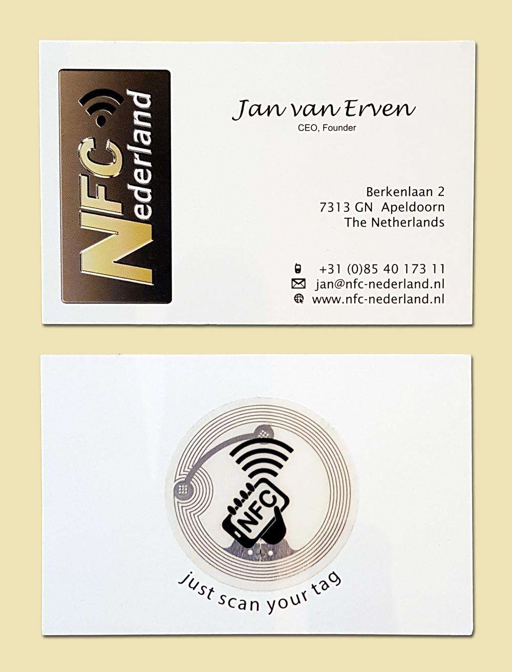 Visitekaartje met NFC