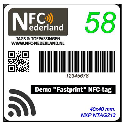 Fastprint sticker