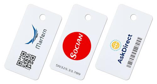 Key-cards bedrukt