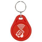 Laser-volgnummer NFC-Sleutelhanger NTAG213, Rood met logo