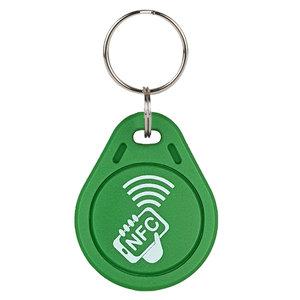 Laser-volgnummer NFC-Sleutelhanger NTAG213, Groen met logo