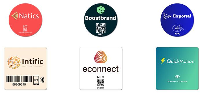 Fastprint NFC-stickers