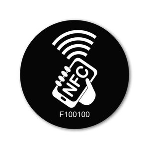 NFC-Sticker-Tag NTAG213 Op-Met.-50mm.-