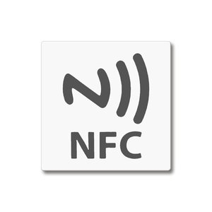 43 x 43 mm NFC Magnetische-tag NTAG203 Wit