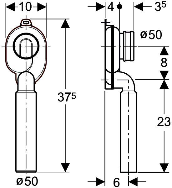 geberit plastic (PE) vertical p-trap