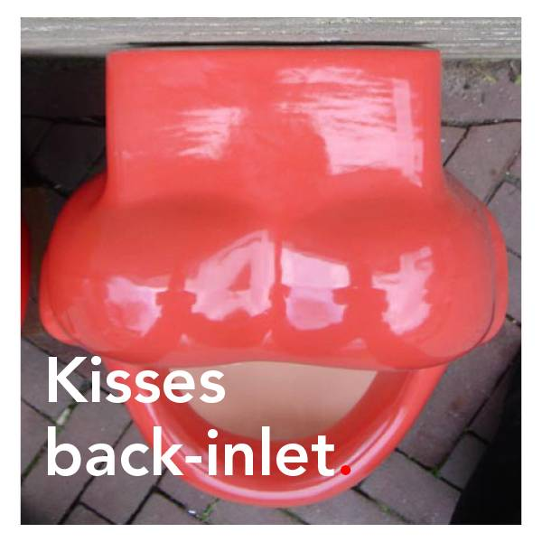 Bathroom Mania kisses urinal | back-inlet