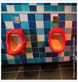 Bathroom Mania kisses urinal   back-inlet