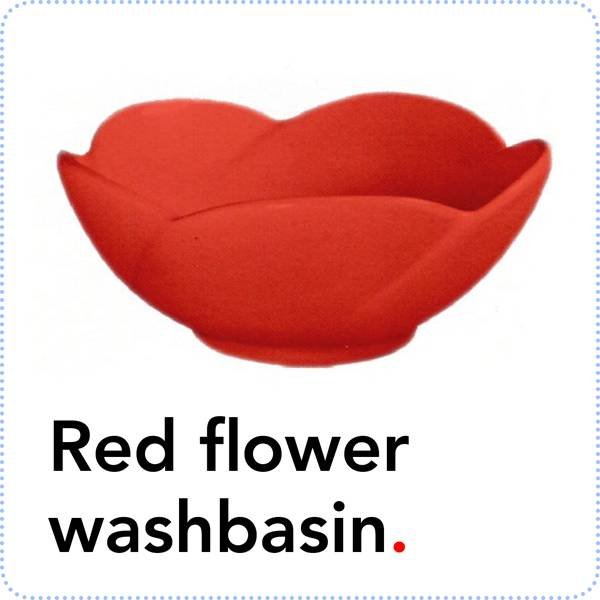 Bathroom Mania Spring Blossom | red