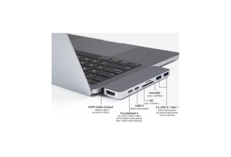 Hyper HyperDrive Thunderbolt 3 USB-C Hub (Silver)