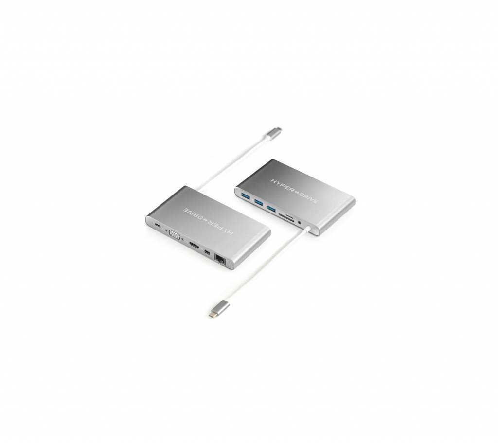 Hyper Hyper Ultimate USB-C Hub (Silver)