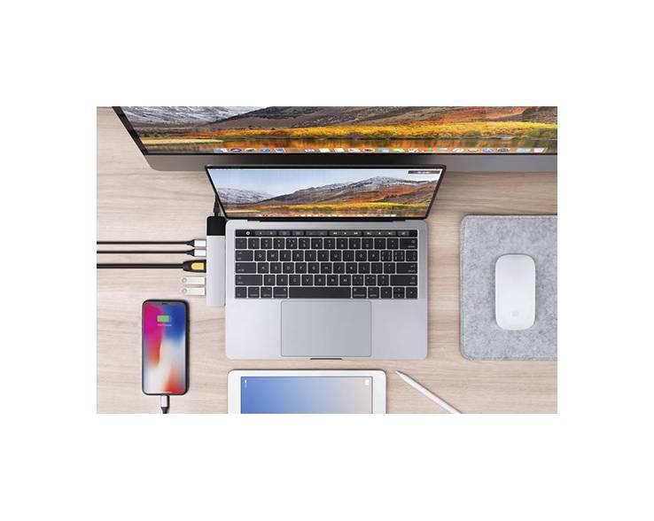Hyper Hyper HyperDrive NET 6-in-2 USB-C Hub (Silver)