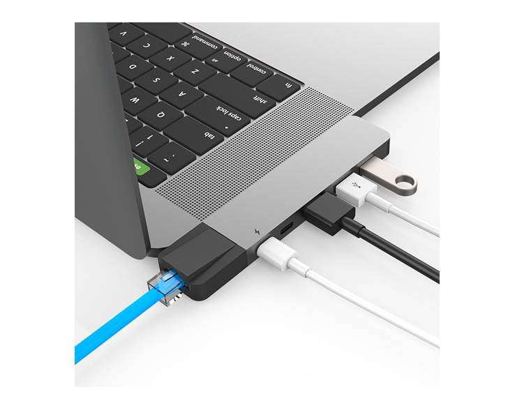Hyper Hyper HyperDrive NET 6-in-2 USB-C Hub (Space Gray)