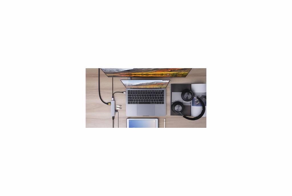 Hyper Hyper HyperDrive 6-in-1 USB-C Hub (Silver)
