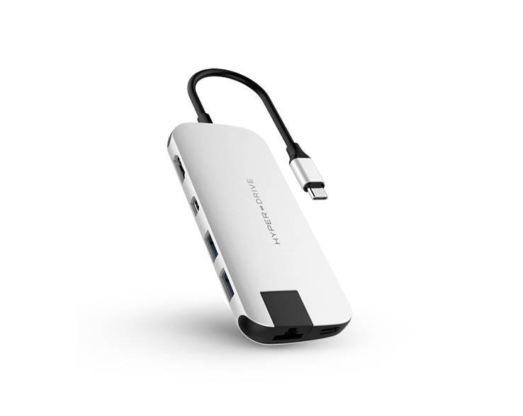 Hyper Hyper HyperDrive Slim 8-in-1 USB-C Hub (Silver)