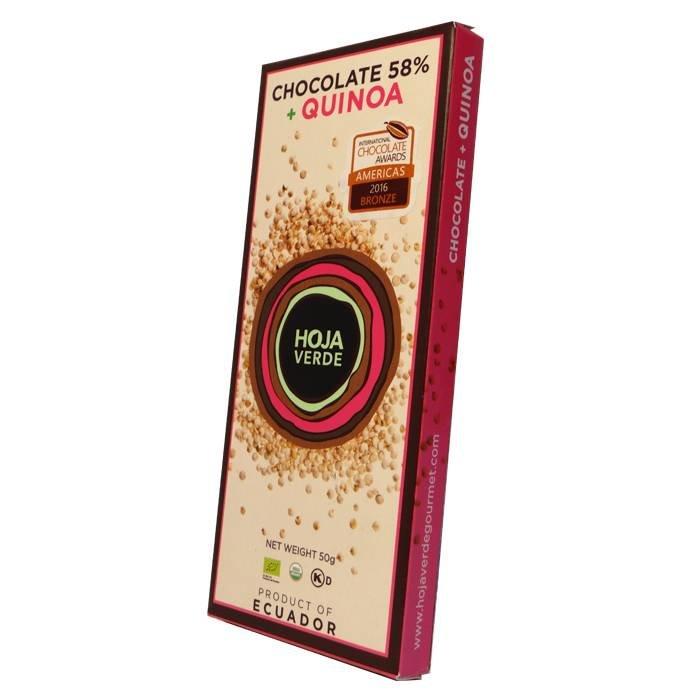 58% Pure chocolade met quinoa, BIO, Kosher, 50 g