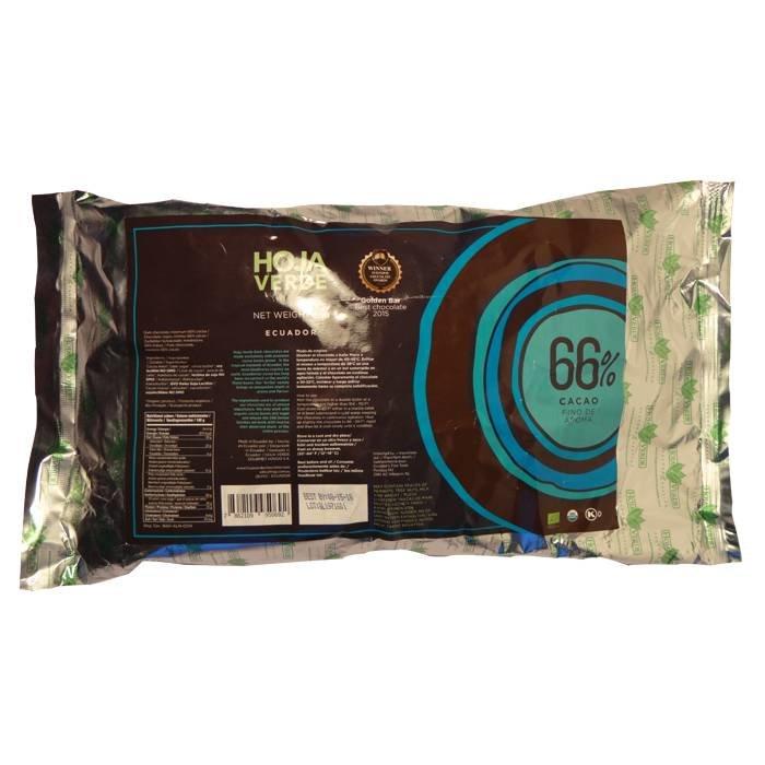 Couverture BIO 66% pure chocolade, 1 kg