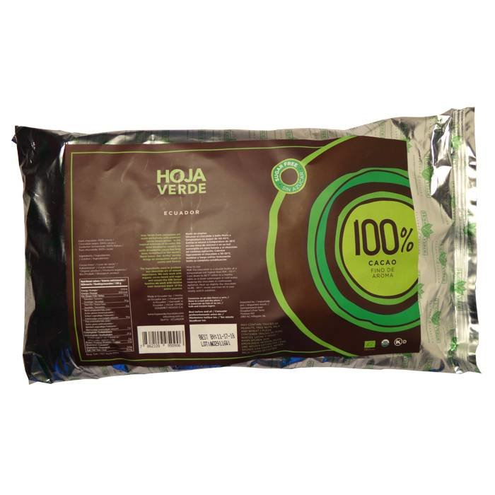 Couverture BIO 100 % pure chocolade, 1 kg