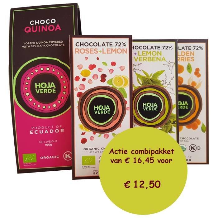 Chocolade pakket met Choco quinoa, Biologisch, Ecuador