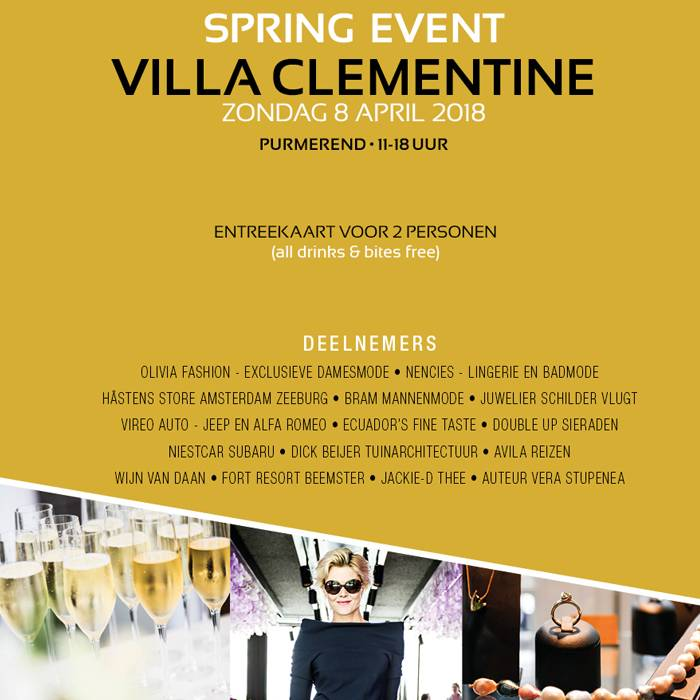 Deelname Spring-Event Villa Clementine