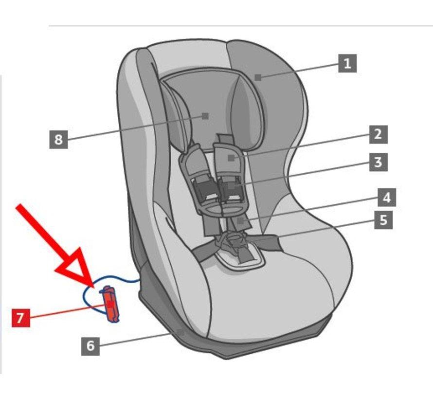 Red belt lock-off for diagonal belt