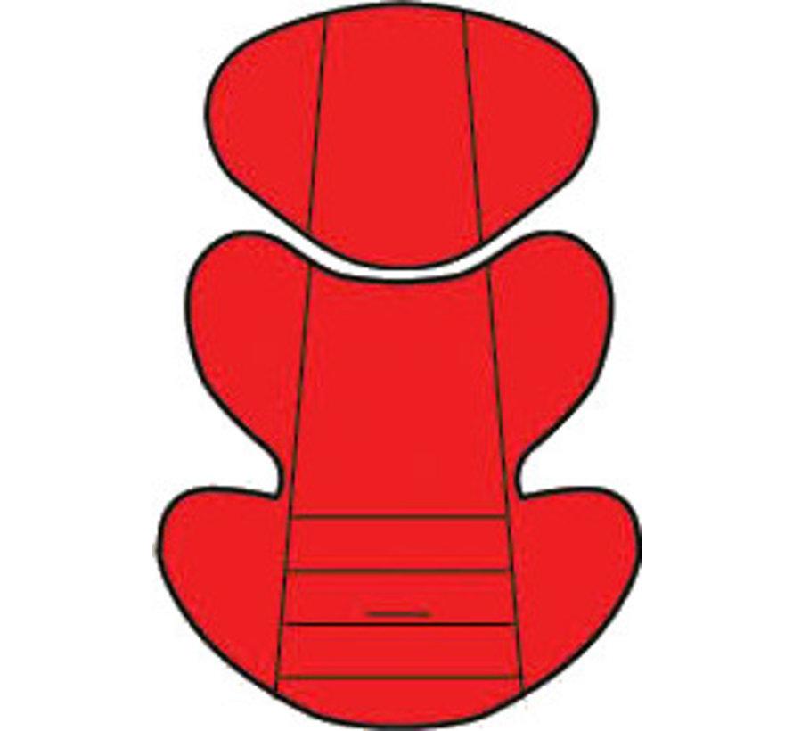 Custo inlay pillow - Uni Red