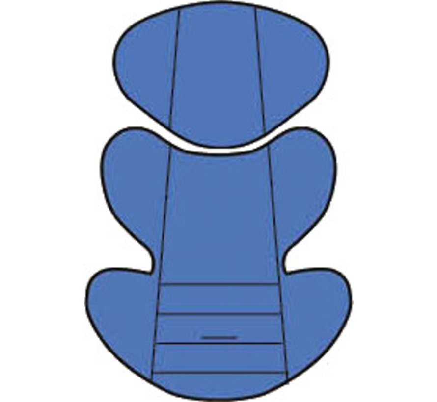 Custo inlay pillow - Uni Blue - Group 0/1